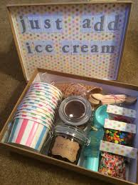 ice cream sundae in a box perfect for a summertime surprise