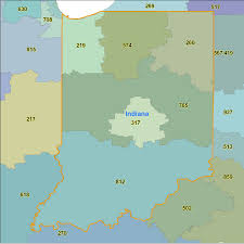 Map Of Area Codes Indiana Area Codes Map Indiana Map