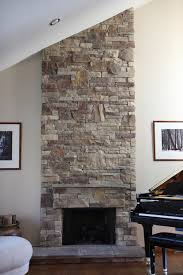 How To Cover Brick Fireplace by Western Warmth Rock Fireplace Ideas