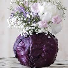 flower arrangements ideas pink flowers in a purple cabbage alternative flower arrangements no