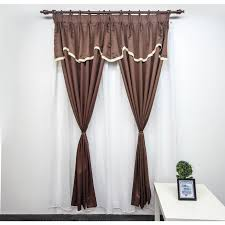 French Pleated Drapes Ck Ready Made French Pleat Curtain Brown 11street Malaysia