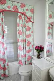 Bathroom Shower Curtain by How To Make A Valance To Go Above The Shower Curtain Valance