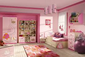 girls bedroom exciting pink wall and soft blue bed cover also