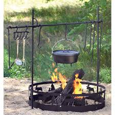 decor metal fire pit accessories with cooking for interesting