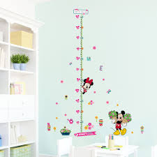 minnie mickey growth chart wall stickers for kids room decoration minnie mickey growth chart wall stickers for kids room decoration cartoon mural art home decals children