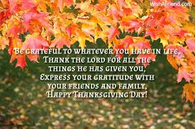 be grateful to whatever you thanksgiving message