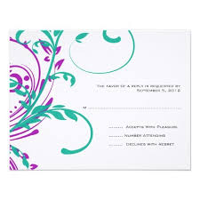 Wedding Card Invitation Designs 289 Best Teal And Purple Wedding Invitations Images On Pinterest
