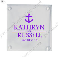 customized wedding gift customized wedding gift personalized glass coasters