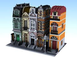 Skinny House Plans Moc Modular Brickstreet And Orange Building Lego Town