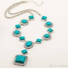 boho stone necklace images Online cheap fashion boho style green stone necklaces pendant jpg