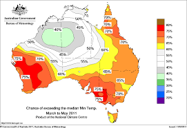 World Temperature Map by Mixed Temperature Outlook For Australia