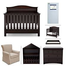 Convertible Crib Mattress Serta Barrett 7 Nursery Furniture Set With Free