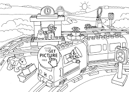 train station coloring page for kids printable free lego duplo