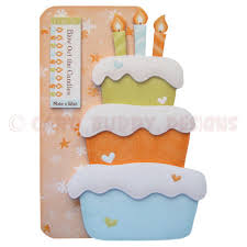 birthday cake shaped fold card kit birthday cake shaped fold card