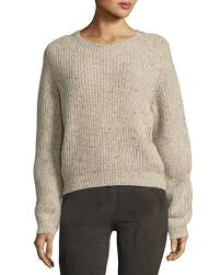 pullover sweater vince cropped saddle pullover sweater