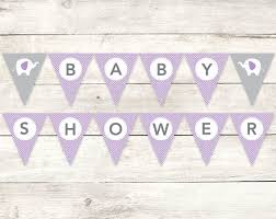 baby shower banner diy baby shower banner printable diy bunting banner elephant purple