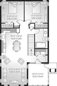 narrow lot house plan 28x32 house 28x32h2k 848 sq ft excellent floor plans