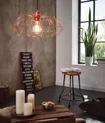 Indoor Pendant Lights Eglo Lighting Carlton Vintage Copper Wire 1 Lamp Pendant Light
