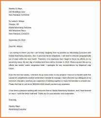 9 resignation letter example 2 weeks notice resign letter job