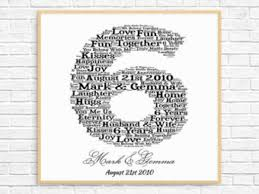 6th anniversary gift ideas for 6th anniversary gift etsy 6 year wedding anniversary gift ideas