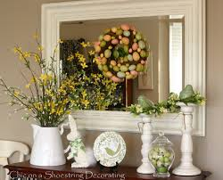 Entry Table Decor by Chic On A Shoestring Love This Those Are Fake Willow And