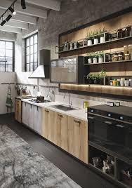 cuisine de loft cuisine de loft avec étagères déco