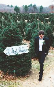 this christmas tree farm wedding looks like a fairytale come true