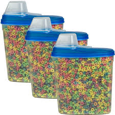 stor all 3 pack large cereal keeper food storage plastic container