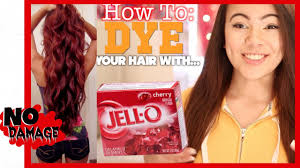 best wash out hair color how to dye your hair with jell o youtube