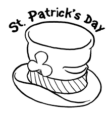 st patricks day and leprechauns hat coloring page batch coloring