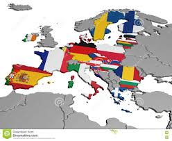 Map Of Europe Countries Map Of Europe In National Colors Stock Illustration Image 73896907