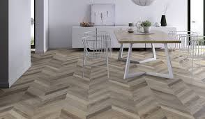 laminate flooring chevron cream