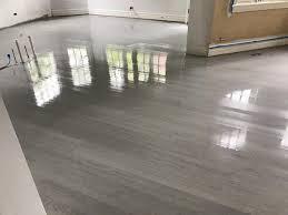 Laminate Wood Flooring On Stairs Hinsdale Gray Color Hardwood Floor And Stairs Final Look Tom