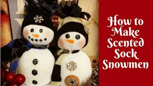 christmas crafts make a scented sock snowman youtube