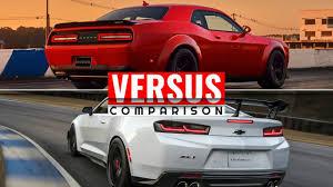 hellcat demon engine 2018 dodge challenger demon vs 2018 camaro zl1 1le youtube