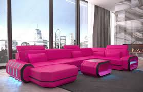 pink leather sectional sofa sofa brooklyn u shape luxury leather sectional sofas sofadreams