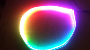circular led light strip rgb led strip ws2811 fading rainbow circle youtube