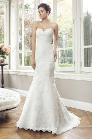 Lace Wedding Dress Simple Strapless Sweetheart Neckline Long Mermaid Lace Wedding