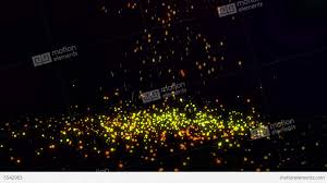 falling small gold particles loop 4k resolution stock animation