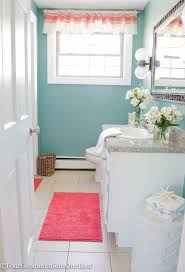 coastal blue powder room makeover before u0026 after four
