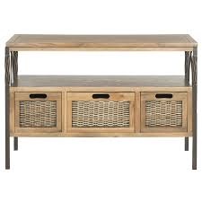 Safavieh Console Table Shop Safavieh Joshua Wood Pine Console Table At Lowes Com