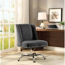 linon home decor draper charcoal microfiber office chair