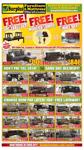 surplus furniture kitchener surplus furniture mattress warehouse kitchener flyer january 3