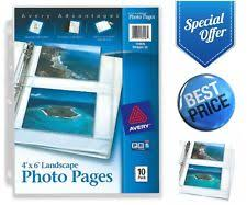 4x6 photo pages for 3 ring binder photo pages sheets sleeves in type photo sleeve s ebay