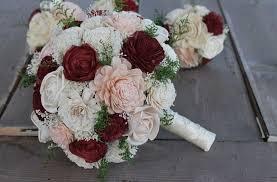 sola flowers burgundy sola wood bouquet burgundy blush pink wedding