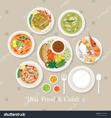set cuisine food cuisine set traditional เวกเตอร สต อก 410296309