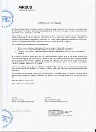 airbus letter of recommendation