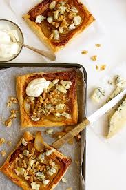 gourmet pears caramelized pear and blue cheese tart recipetin eats