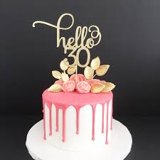 30 cake topper hello 30 glitter cake topper any age cake topper 30th birthday