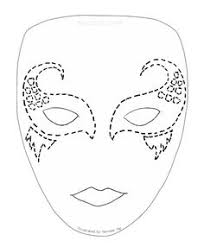 Mask Template by трафарет венецианская маска Venetian Mask Template мастер
